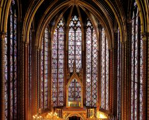 Interior da Sainte-Chapelle / Paris